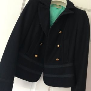 Navy Armani jacket with gold buttons